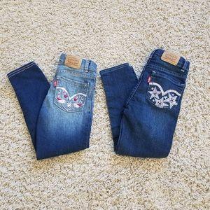 LEVIS girls super skinny jeans bundle!
